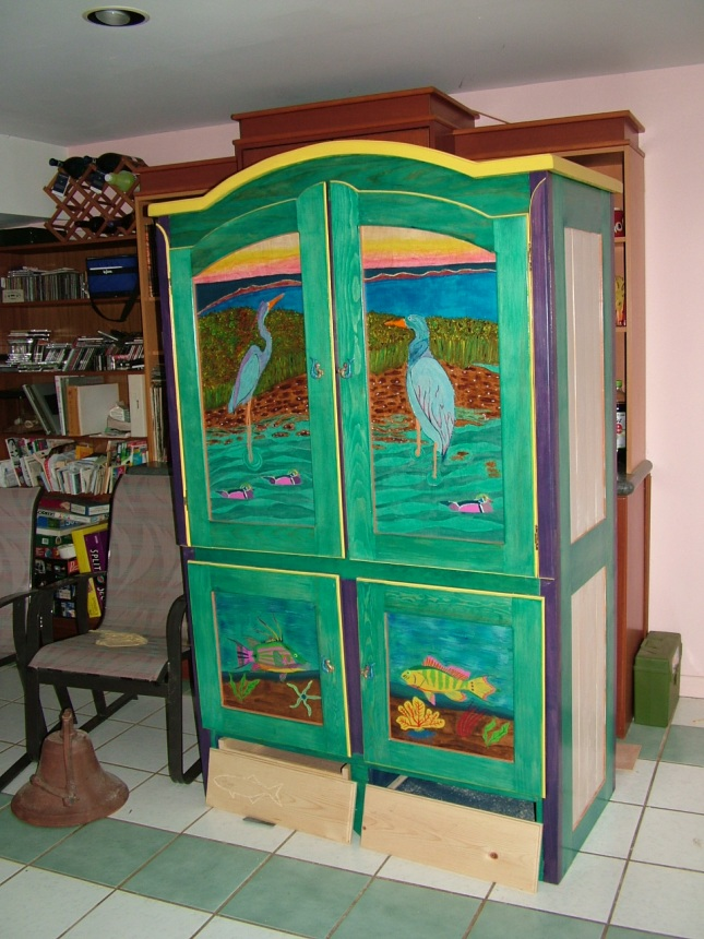 Armoire - Art Painted Cabinet