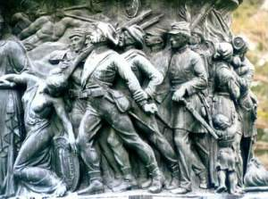 Freise on One Side of confederate Memorial