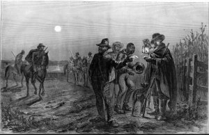 Slaves Showing their passes to Plantation police