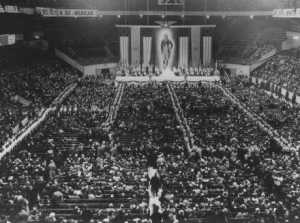 German American Bund rally at Madison Square Garden. New York, United States, February 20, 1939.
