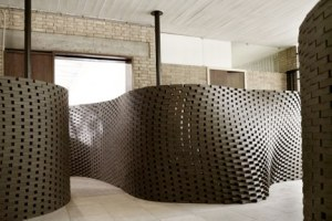 Brick Wall - Fabio Gramazio and Matthias Kohler of ETH Zurich, who used real brick for an installation at the Venice Biennale