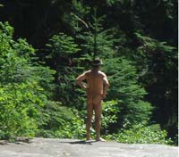 Naked Hiker. NOT Governor Sanford... as far as we know.