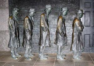 Bread Line Statue at Franlin Delano Roosevelt Memorial