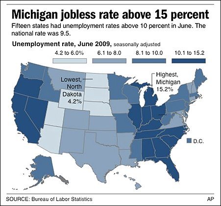 Jobless Rates US States