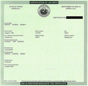 President Obama Birth Certificate