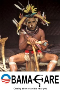 Obama, as a Witch Doctor...