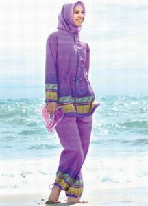 Unidentified Model in a Burkini