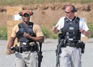 Solomon Ayers, and Tom Marquardt on Training Range