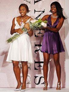 Sisters Serena and Venus WIlliams