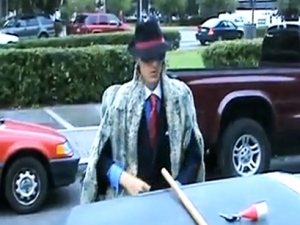 James O'Keefe III in him Pimp Getup - Not a Playa!