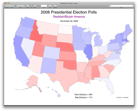 Red/Blue Electoral Map 2008