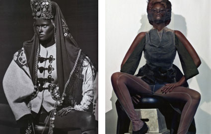 Laura Stone in blackface for French Vogue