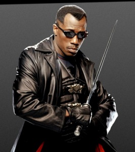 "Wesley Snipes as the ""Blade"" Character"
