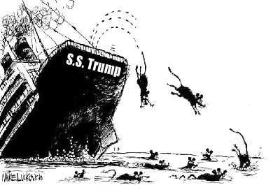 Image result for sinking trump ship